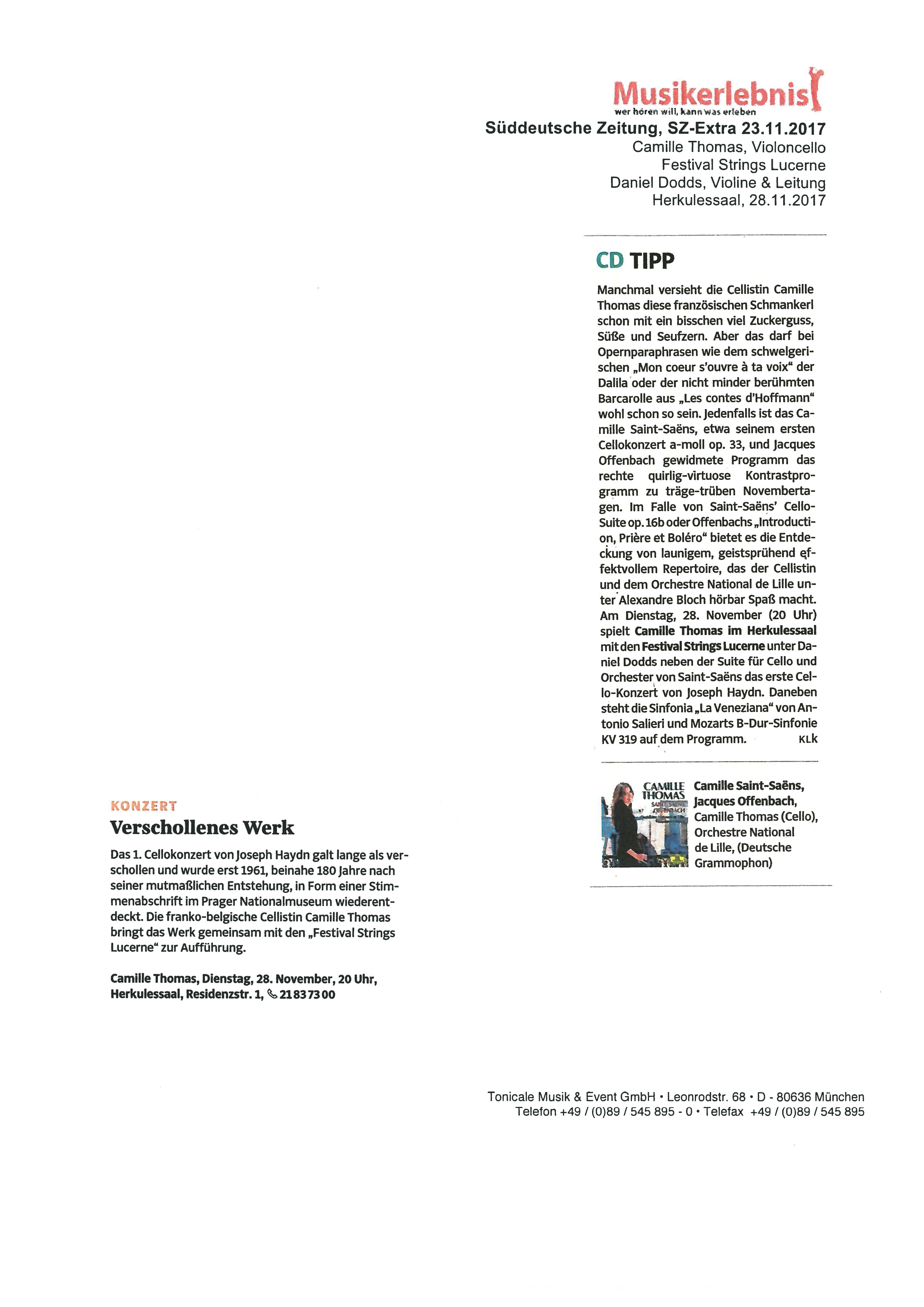 Musikerlebnis - Konzertkarten München: Pressearchiv
